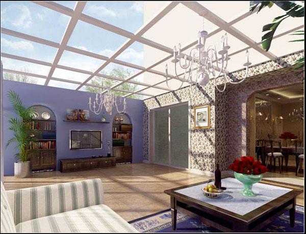 专业制作阳光房别墅阳光房玻璃图片