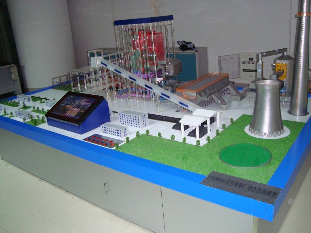 300mw机组火力发电厂整体模型a-04