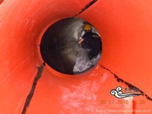 供应电厂衬胶管道设备现场修补