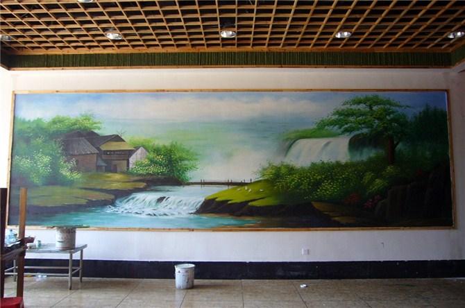 供应武汉酒店手绘壁画