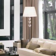 简欧风白色落地灯北欧热款客厅灯图片