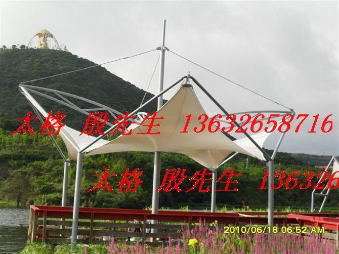安庆公园凉亭遮阳伞张拉膜结构图片
