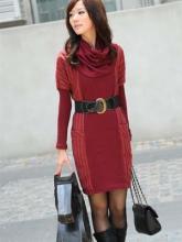 供应百变衣纺欧版拼接条纹加厚修身连时尚