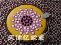 高档莲花锗石圆坐垫图片
