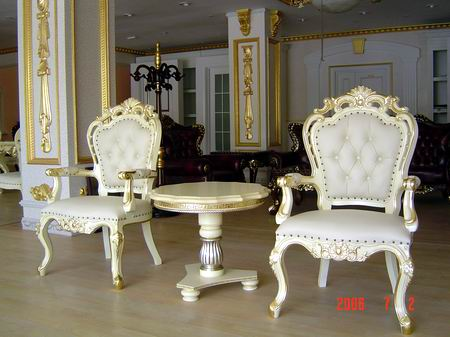 欧式白色餐桌椅定做图片