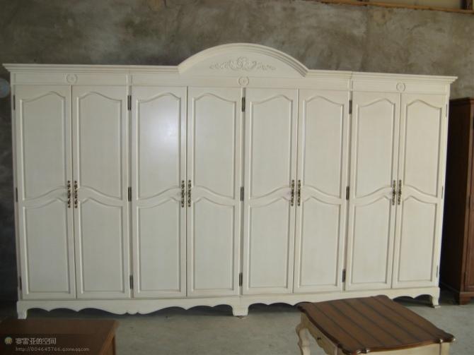 供应欧式白色衣柜定做欧式家具供应
