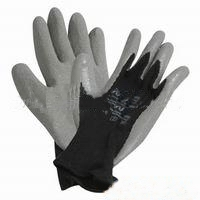 供应乳胶防护手套涂层防护手套乳胶涂层防护手套图片