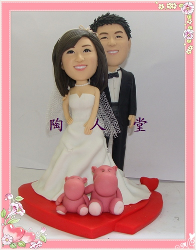 陶人堂定做结婚礼物生日礼物商务礼品陶土公仔软陶公仔创意