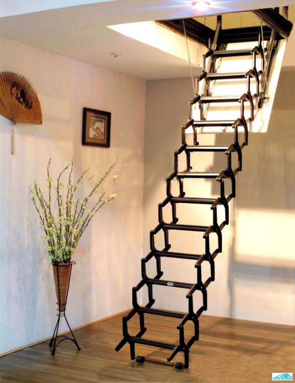 阁楼伸缩楼梯款式新颖鼎盛厂家图片/阁楼伸缩楼梯款式新颖鼎盛厂家样板图
