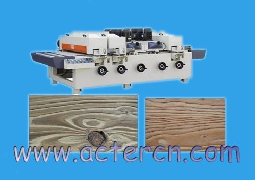 木板木材仿古拉丝做旧处理加工设备