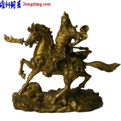 供应铜像关公-骑马关公-关羽铜像图片