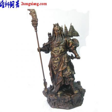 供应铜工艺品厂-关公铜像-铜雕关公图片