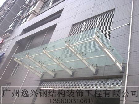 现代办公楼雨棚效果图