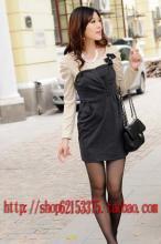 供应时尚修身女装气质韩版褶皱假两件套