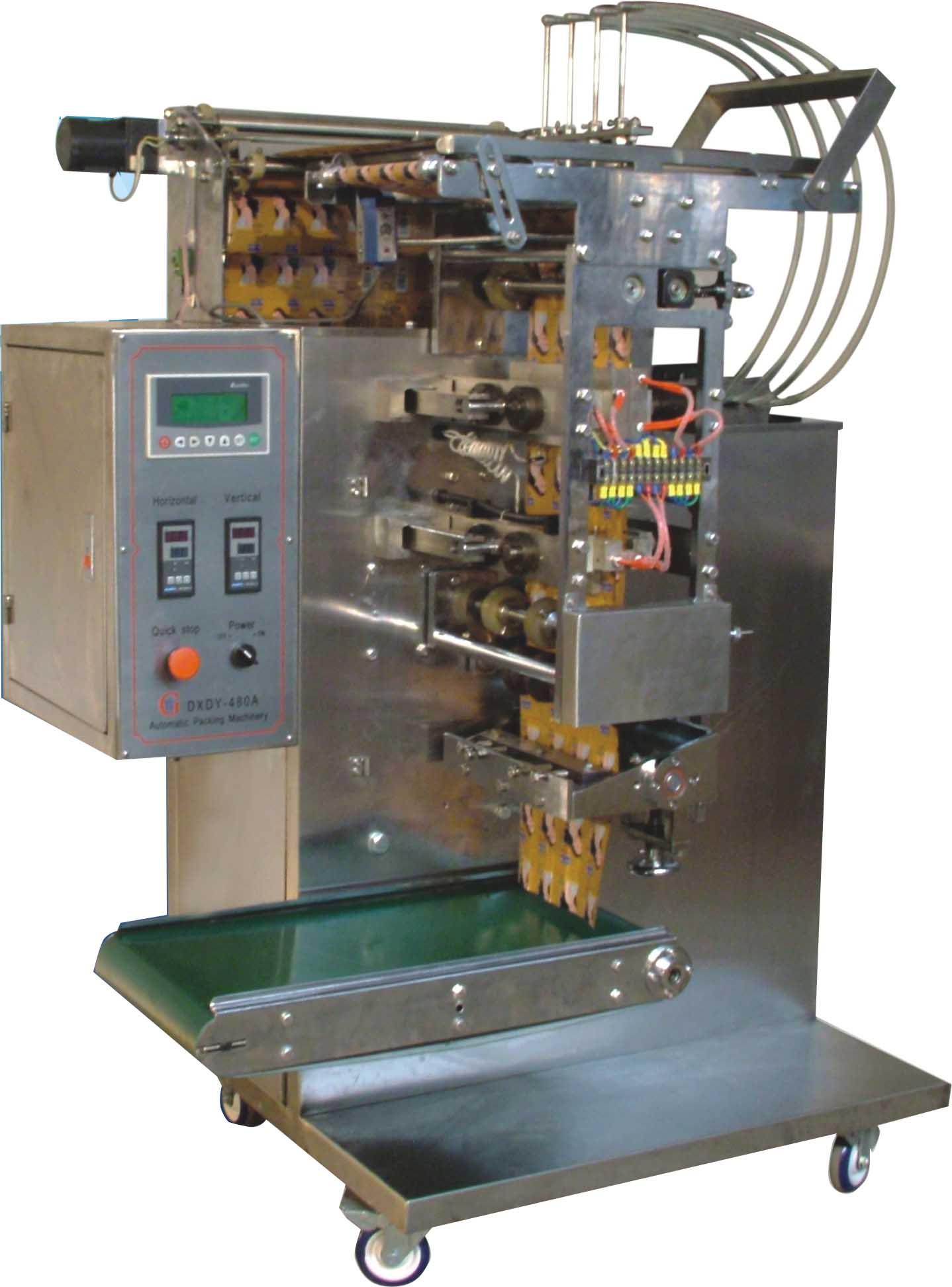 四排液体包装机图片/四排液体包装机样板图
