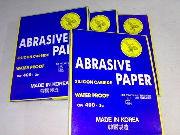 供应韩国鹰牌砂纸水磨砂纸P60-P2000鹰牌砂纸水砂纸批发