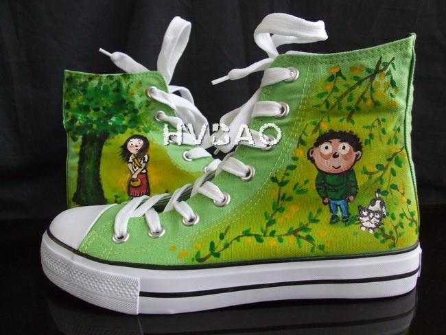 手绘鞋涂鸦鞋帆布鞋图片