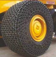 5t装载机轮胎保护链防滑链图片