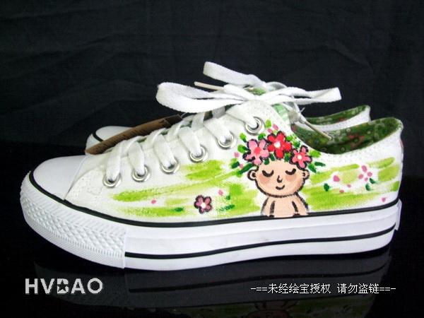 鞋手绘服装图片  生产厂家:                          绘宝手绘墙