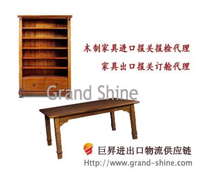 供应木材原木家具进口代理报关图片
