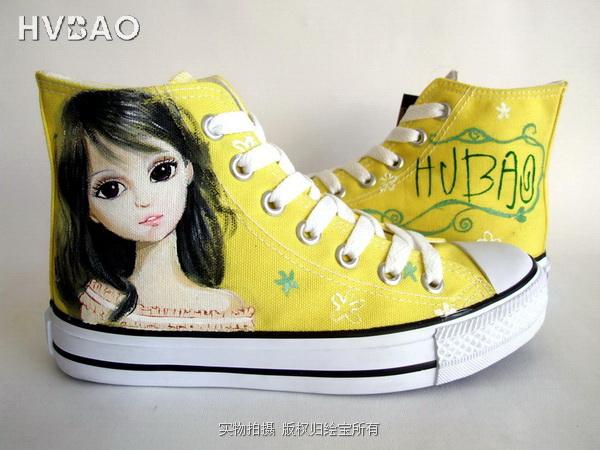 惠州手绘鞋定制图片手绘鞋招商绘宝报价