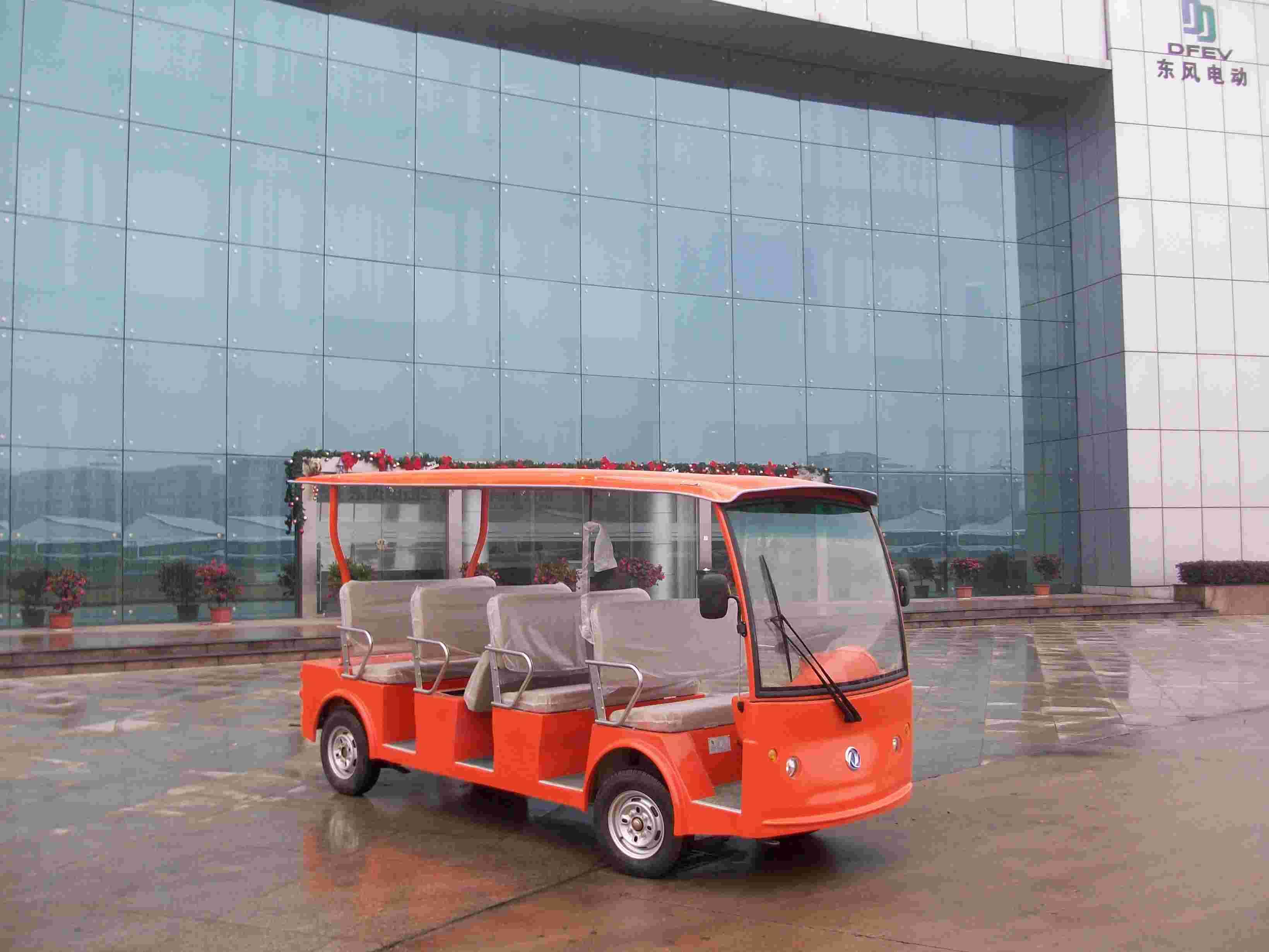 供应东风14座电动景区游览车,东风14座电动景区游览车价格图片