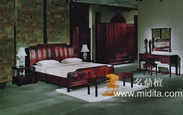 简欧式红木床图片_简欧式红木床图片大全