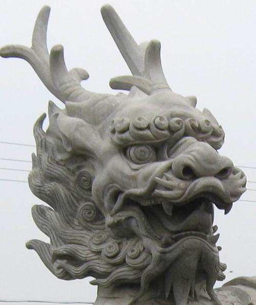 雕塑图片 雕塑样板图 龙头雕塑-石雕信息网