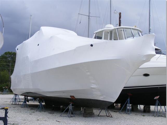 星澜包装提供游艇大型设备塑封热缩膜包装服务