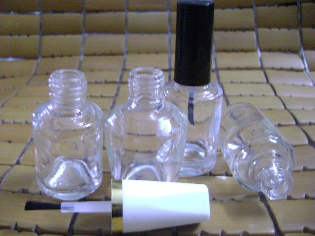 供应现货供应11ml透明指甲油瓶配毛刷盖子