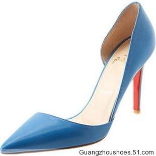 广州利强鞋厂生产供应真皮女鞋外贸时尚高跟鞋