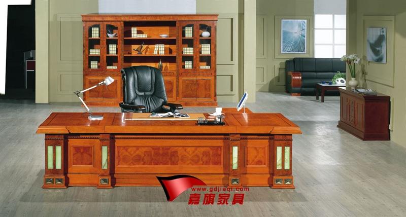 广州旺派实木办公家具生产常宁市实木大班台z0133