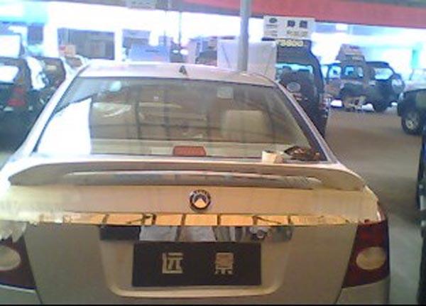 吉利远景尾翼图片 吉利远景尾翼样板图 吉利远景尾翼 皇家汽车改装高清图片