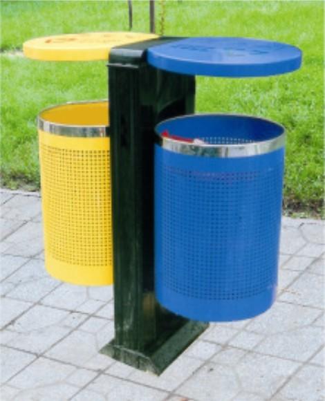 针孔式圆桶垃圾桶图片
