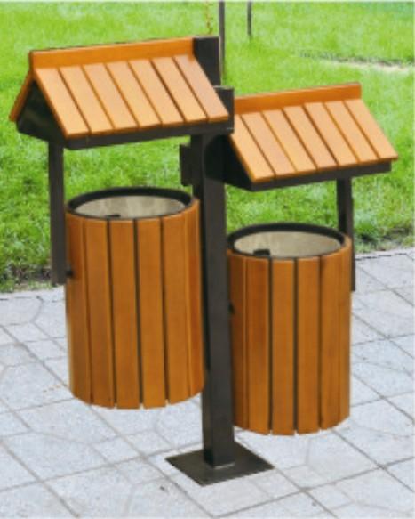 成都市明兴环保设备有限公司生产木桶型垃圾桶