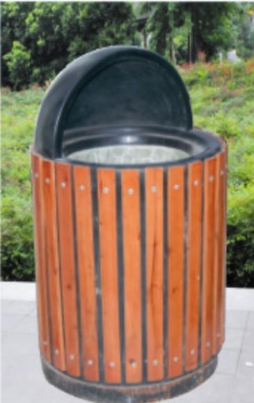 钢木敞口独立垃圾桶批发价格