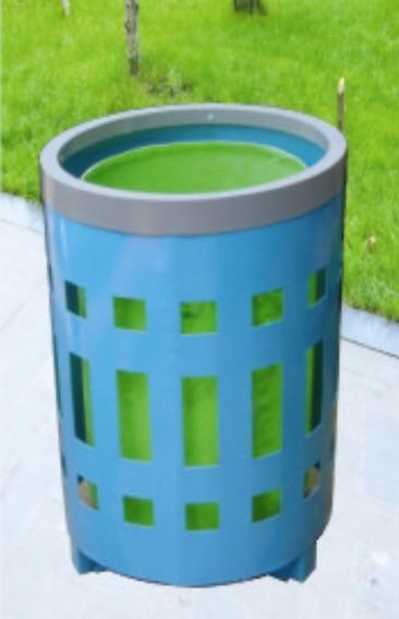垃圾桶_垃圾桶供货商_钢板喷塑镂空垃圾桶