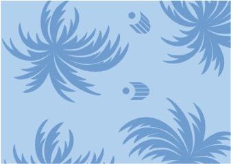 蓝色欧式大花墙纸