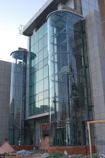南昌观光梯井道电梯钢结构井道图片