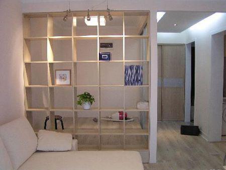 隔断柜3; 中式客厅实景图书架;