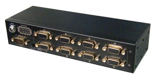 供应优特普厂家直销高清vga视频分配器,延长器,远距离放大器图片大全