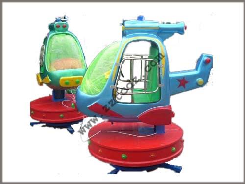 优质玻璃钢壳儿童自旋升降小飞机