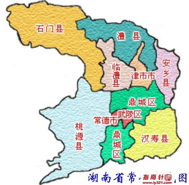 常德市石门县地图
