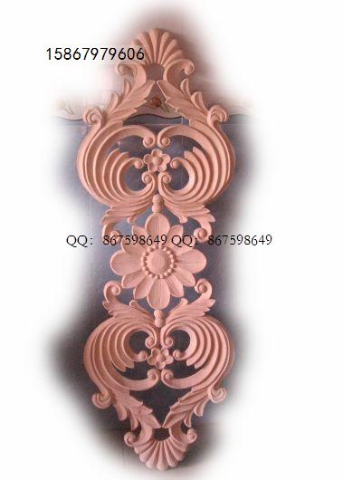供应欧式装修洋花角花木线贴花木雕定做图片