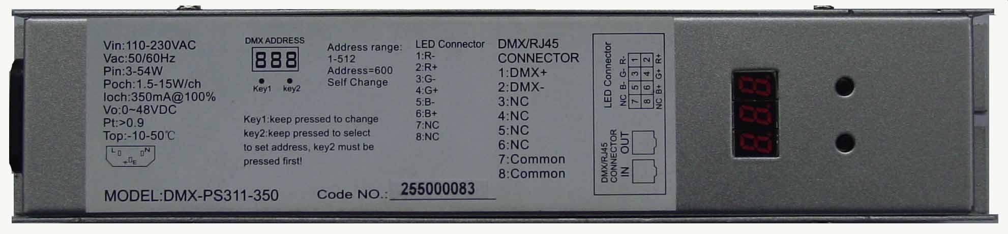 3路dmx解码恒流驱动电源