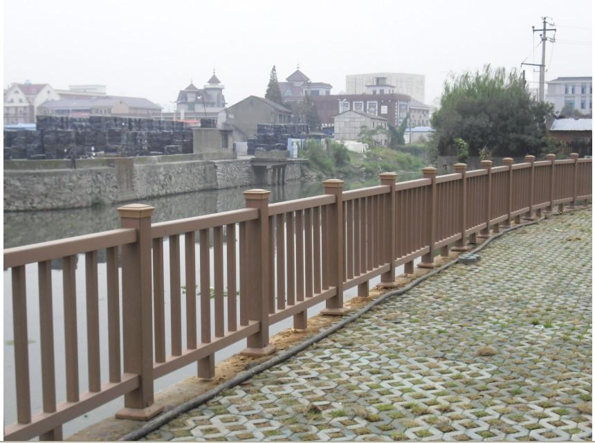 塑木水边栏杆图片|塑木水边栏杆样板图|塑木水边栏杆