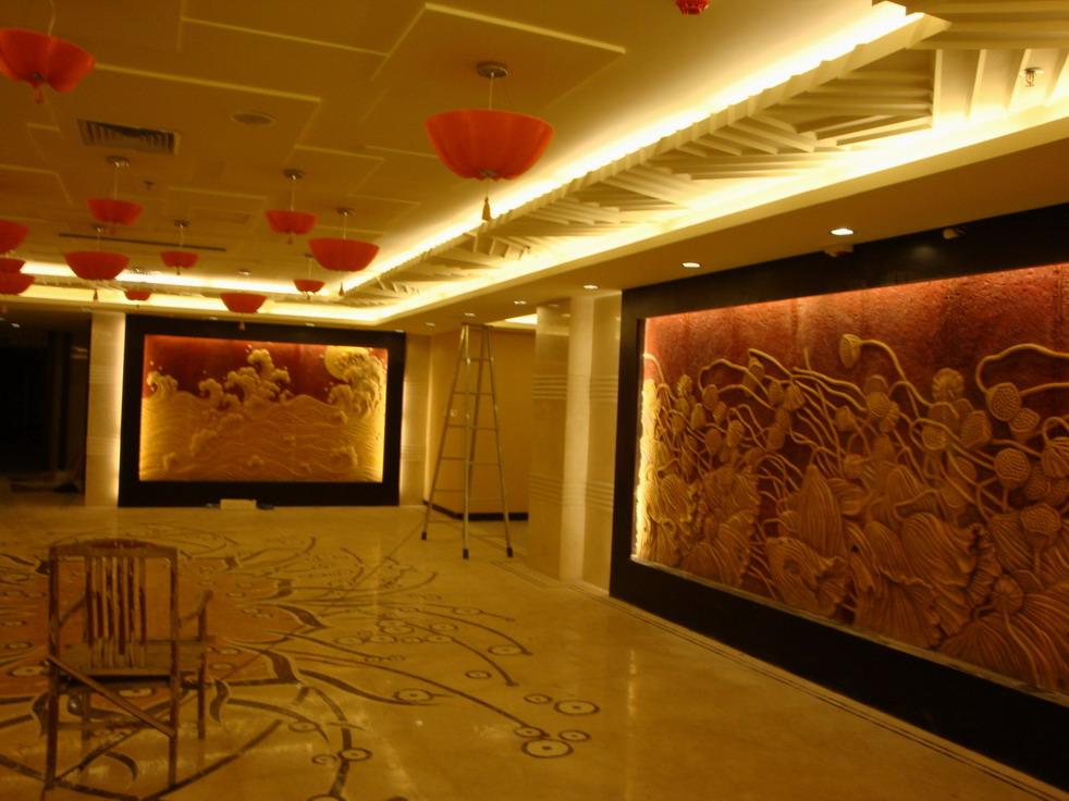 美发店吧台背景墙   急!宾馆吧台和背景墙改造装修设计