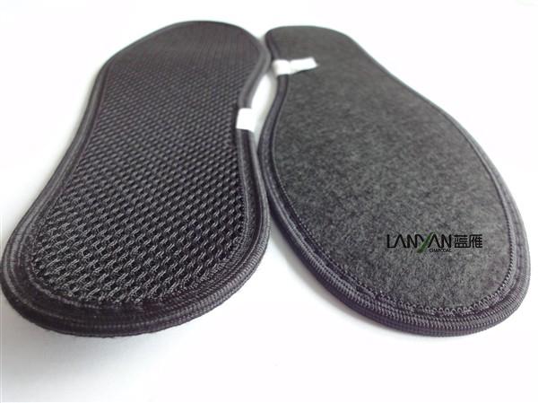 竹炭网眼鞋垫黑死色加工贴牌图片/竹炭网眼鞋垫黑死色加工贴牌样板图