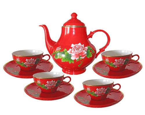中国红金玲茶具