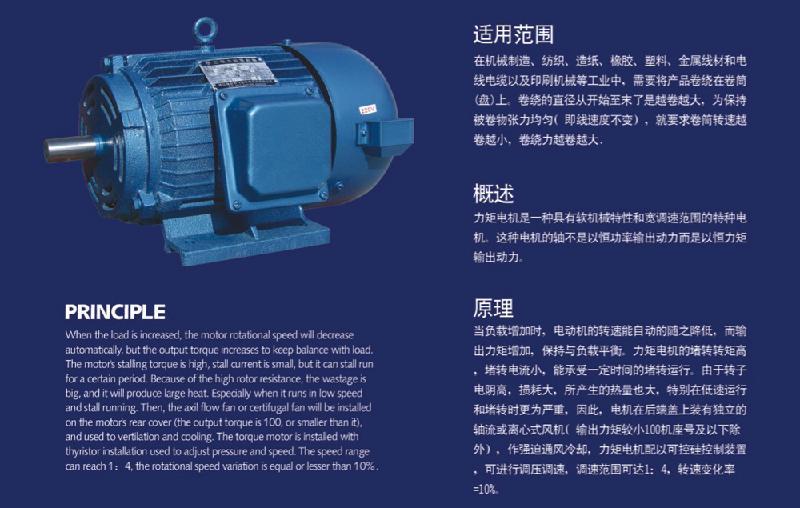 瑞安飞亚供应YLJ112-10-6力矩电机 6,4极力矩电机